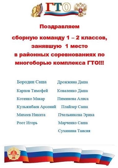 ГТО 1-2 классы